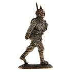 """Оловянный солдатик """"Германский рядовой на марше"""""""