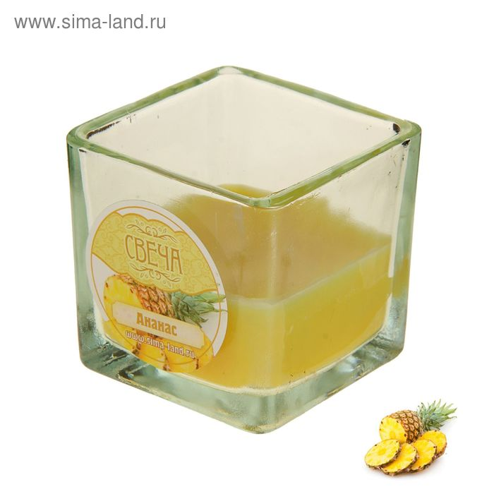 Свеча восковая, аромат ананас