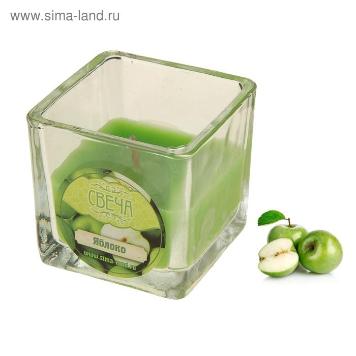 Свеча восковая, аромат яблоко