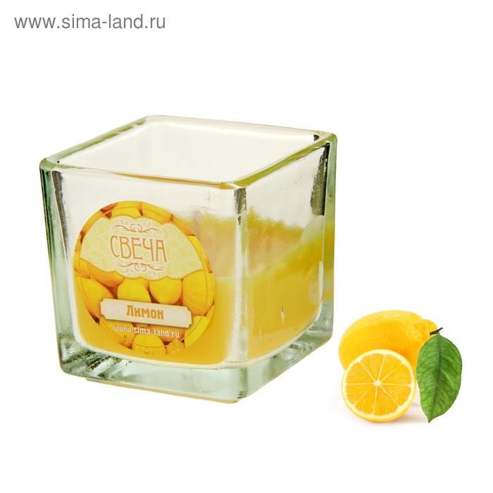 Свеча восковая, аромат лимон