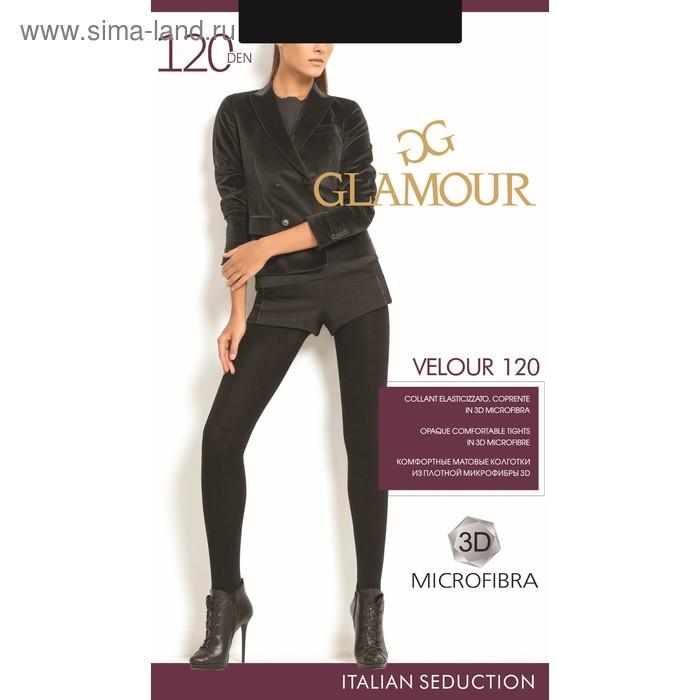 Колготки женские GLAMOUR Velour 120 (nero, 2)