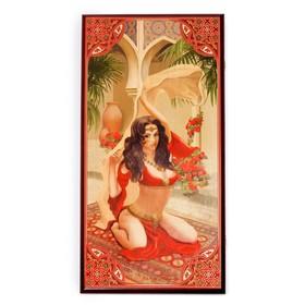 """Нарды """"Восточная Красавица"""", деревянная доска 60х60 см, с полем для игры в шашки"""