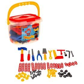 Набор инструментов №1 в ведёрке, 72 элемента, цвета МИКС