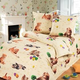 Детское постельное бельё 1,5 сп. «Усатый-полосатый»