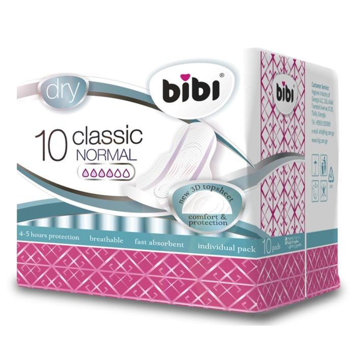 Прокладки «BiBi» Classic Normal Dry, 10 шт; Цена указана за 4 упаковки