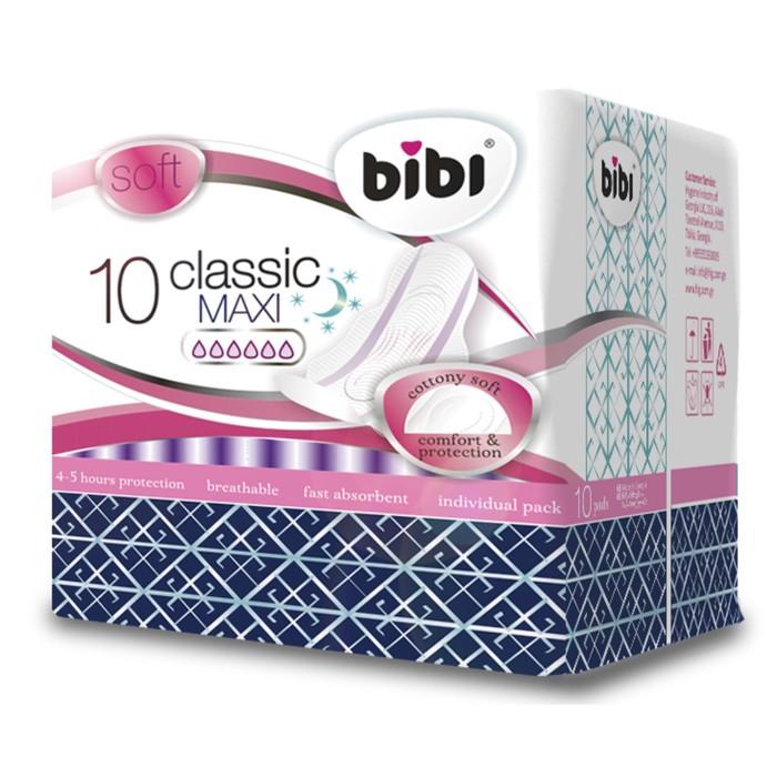 Прокладки «BiBi» Classic Maxi soft, 10 шт; Цена указана за 4 упаковки