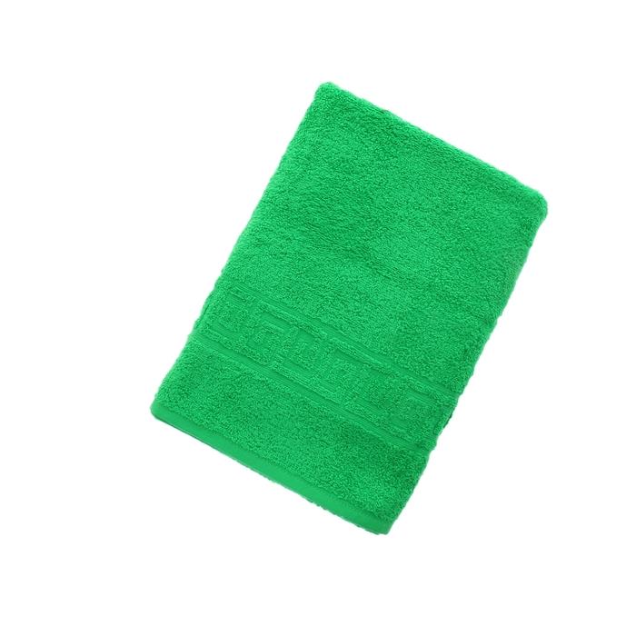 Полотенце махровое однотонное Антей 70х140 см, классический зеленый, 100% хлопок, 430 гр/м2