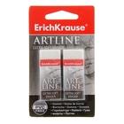 Набор ластиков 2 штуки ART LINE Extra Soft, 51х21х11мм, супермягкий, из гипоаллергенного материала термопластичной резины (TPR) с пониженным образованием крошек (Dust free), в блистере