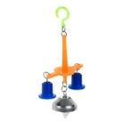 Игрушка для птиц с колокольчиком №2 микс цветов