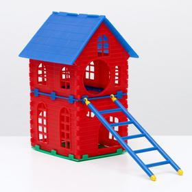 The hamster house is two-story.