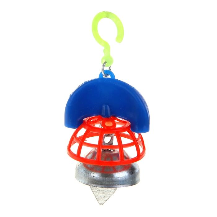 Игрушка для птиц  с колокольчиком №1, микс цветов