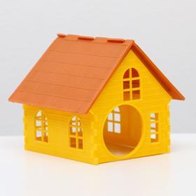 Домик для хомяка одноэтажный, 13х13,5х12,5 см,  микс цветов