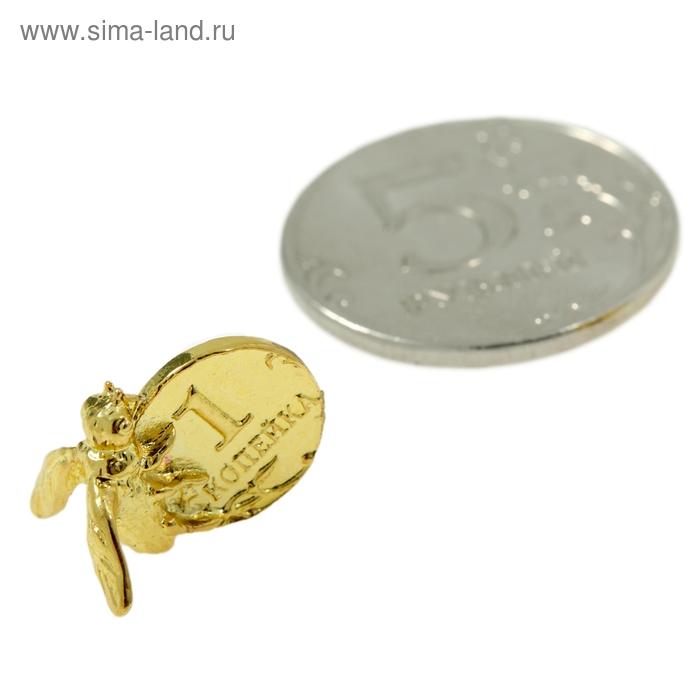 """Талисман в кошелек """"Пчелка денежная"""" с монетой"""