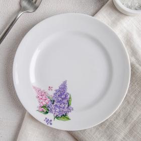 Тарелка мелкая «Сирень», 17 см