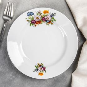 Тарелка мелкая «Букет цветов», 20 см