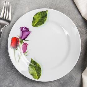 Тарелка мелкая «Королева цветов», 17 см