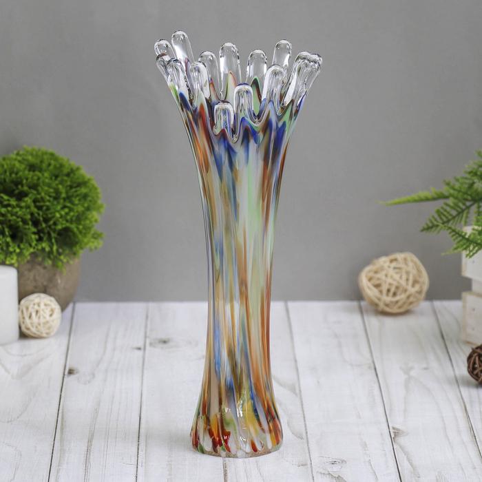 Ваза Коралл разноцветная 28 см - фото 7423657