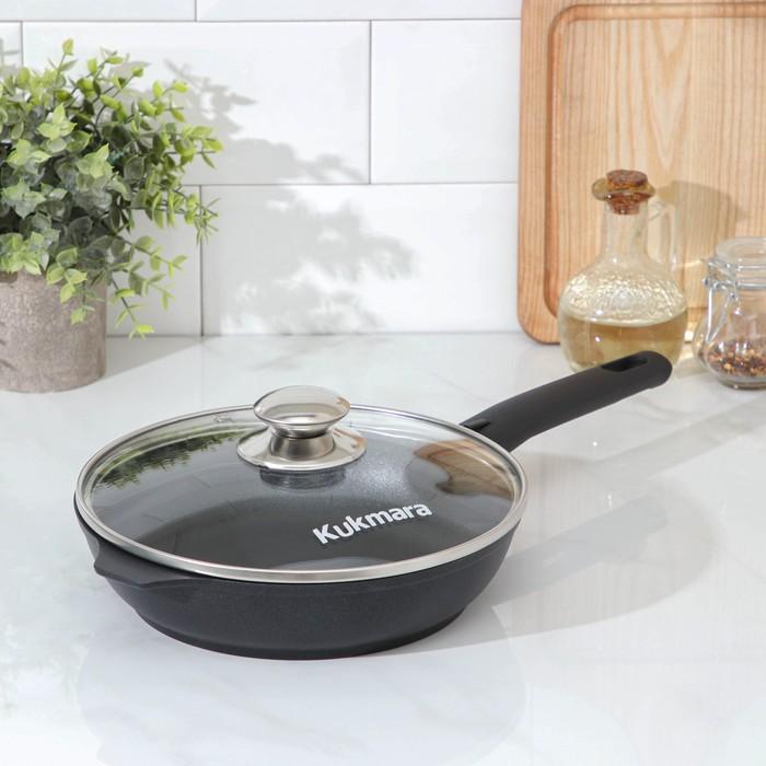 """Сковорода 22 см """"Традиция"""", стеклянная крышка, съемная ручка"""