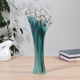 """Ваза """"Волна"""" 40 см зелено-марганцевая - фото 7442417"""