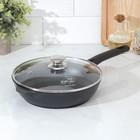 Сковорода «Традиция», d=24 см, стеклянная крышка, съёмная ручка - фото 1543992