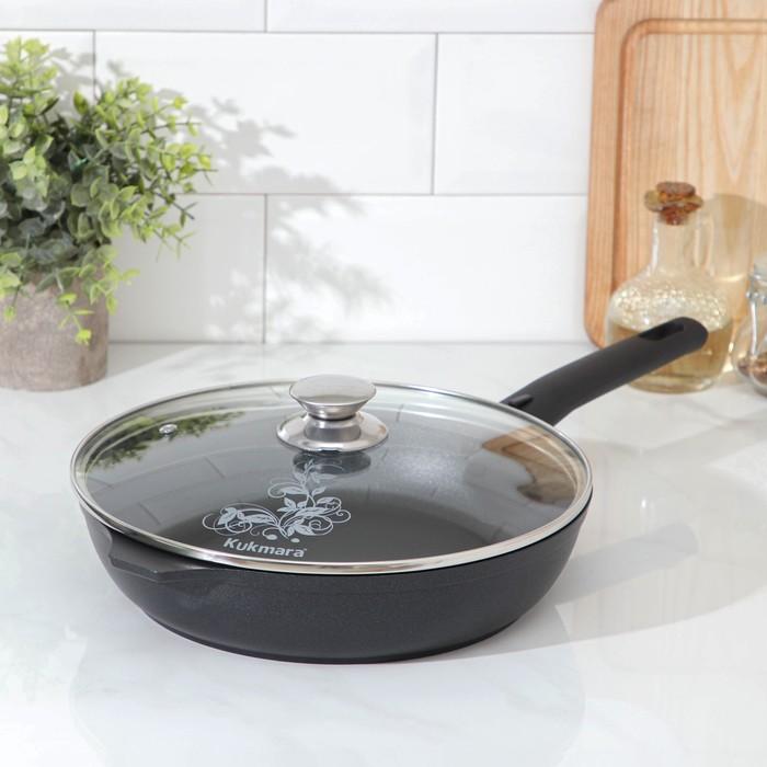Сковорода «Традиция», d=26 см, стеклянная крышка, съёмная ручка - фото 1544028