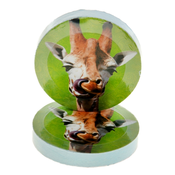 "Полотенце прессованное Collorista ""Жираф"", размер 28х28 см, цвет микс"