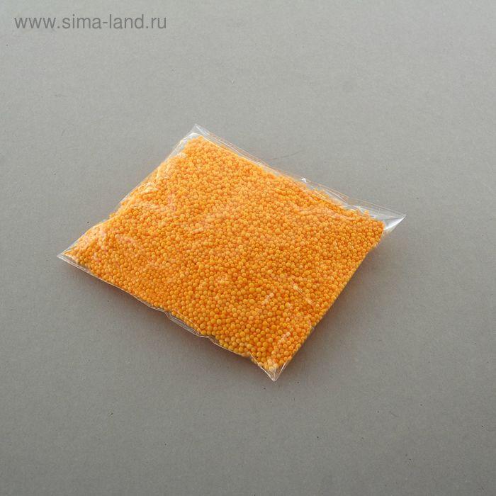Наполнитель декоративный, шарики d=0,3 см, цвет апельсиновый