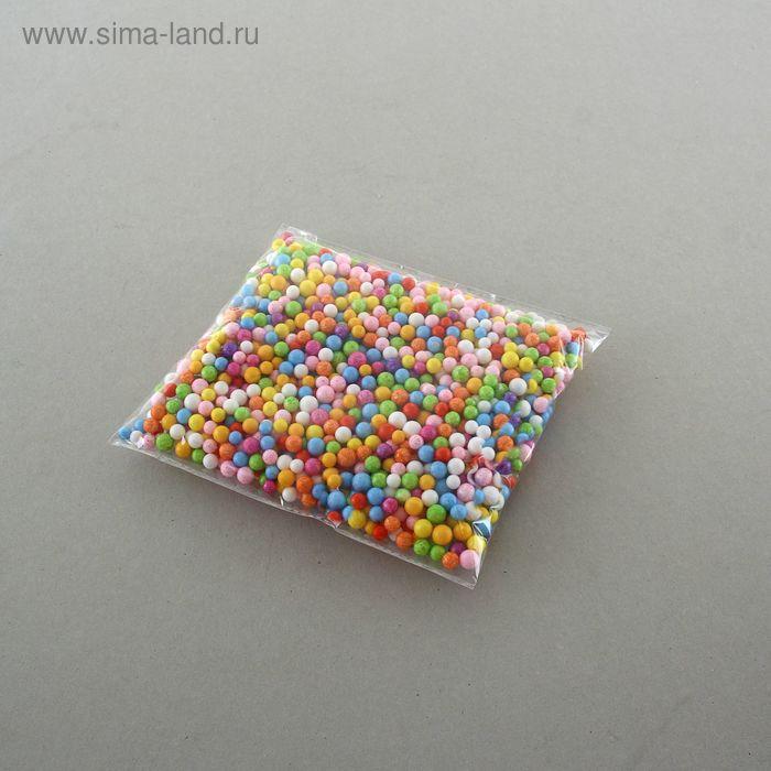 Наполнитель декоративный, шарики d=0,8 см, цвет ассорти