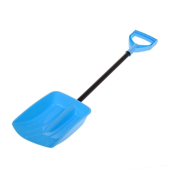 Лопата автомобильная пластиковая, ковш 240 х 185 мм, без планки, черенок, с ручкой