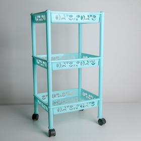 Этажерка напольная 3-х секционная Prima, на колёсиках, цвет МИКС