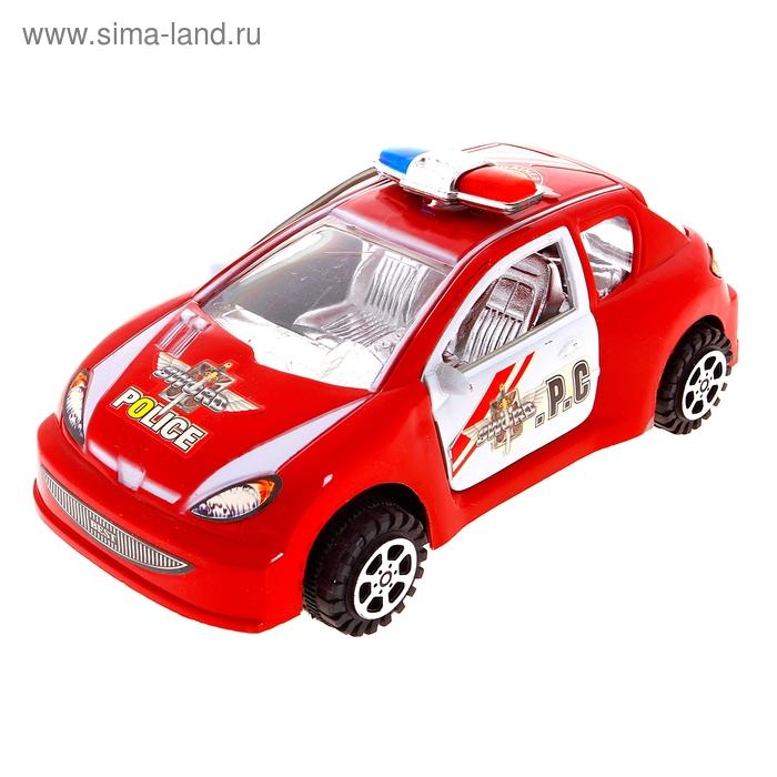 """Машина инерционная """"Полиция"""", открываются двери, цвета МИКС"""