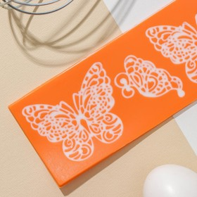 Коврик для айсинга «Бабочки», 19×6 см, цвет МИКС