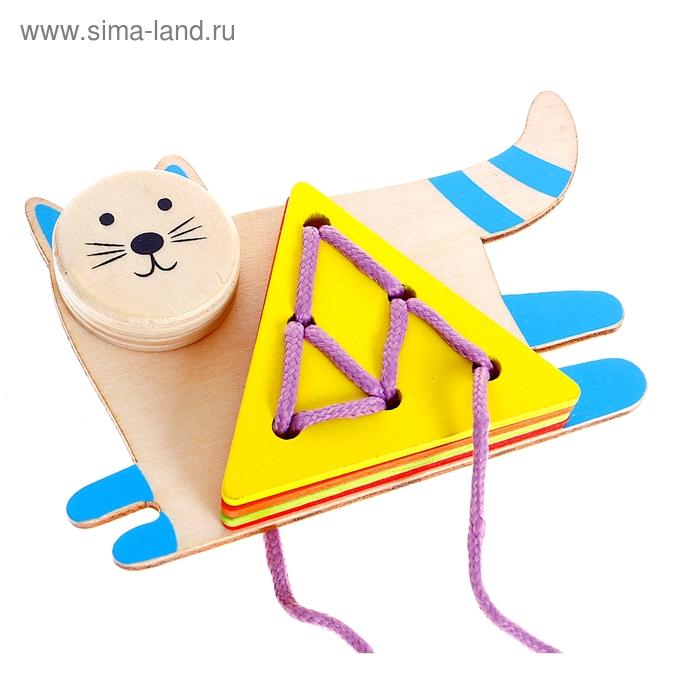 """Шнуровка Изучаем фигуры """"Котёнок"""", 4 элемента"""