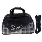 """Сумка спортивная """"Мяч"""", 1 отдел, наружный карман, длинный ремень, цвет черный"""