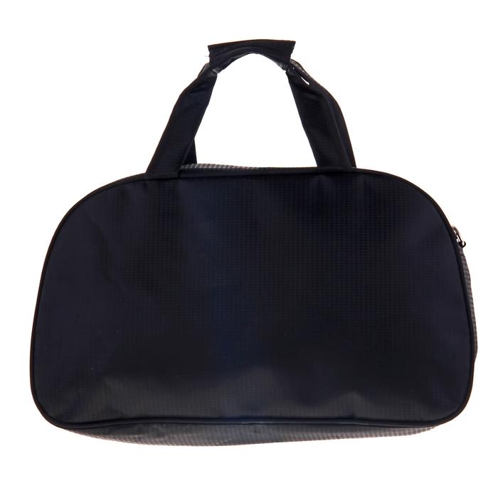 """Сумка спортивная """"Волна"""", 1 отдел, наружный карман, длинный ремень, цвет черно-белый"""