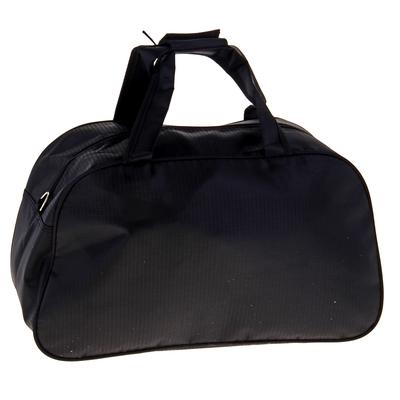 """Сумка спортивная """"Волна"""", 1 отдел, наружный карман, длинный ремень, цвет черно-зеленый"""