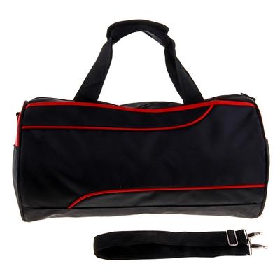 """Сумка спортивная """"Марафон"""", 1 отдел, наружный карман, длинный ремень, цвет черно-красный"""