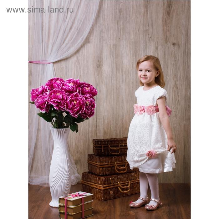 Платье Камила рост 128см (64), цвет белый