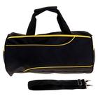 """Сумка спортивная """"Марафон"""", 1 отдел, наружный карман, длинный ремень, цвет черно-желтый"""