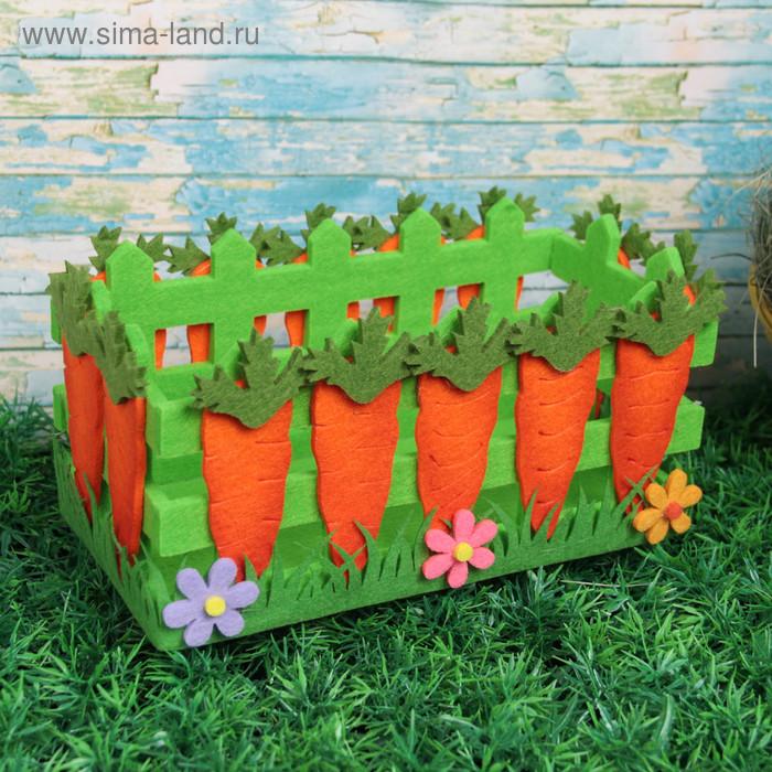 """Кашпо """"Морковки и цветочки"""""""