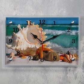 Часы настенные прямоугольные «Ракушки», 20 × 30 см, микс