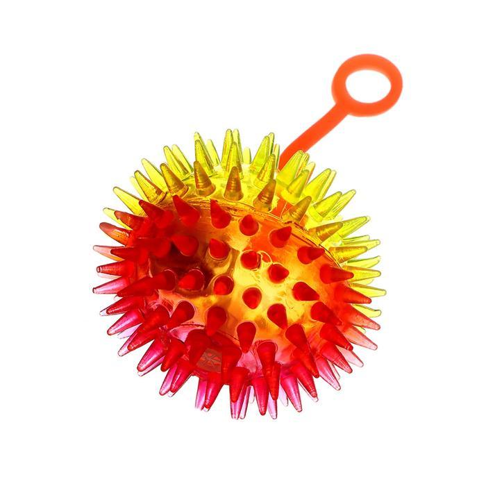 Мяч световой, прозрачный, на резинке, 6,5 см, цвета МИКС