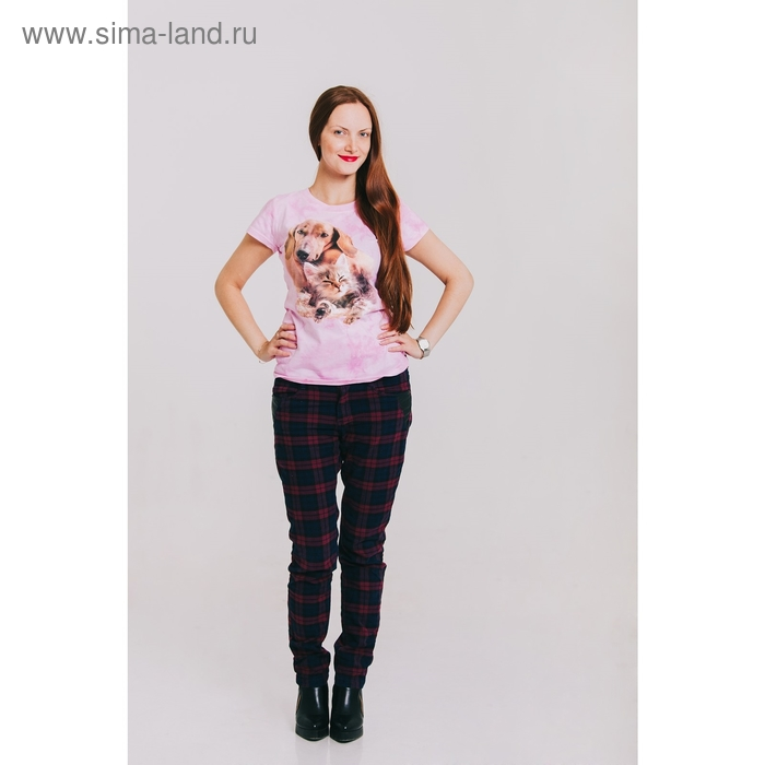 Футболка женская Collorista 3D Friends, размер M(46), цвет розовый