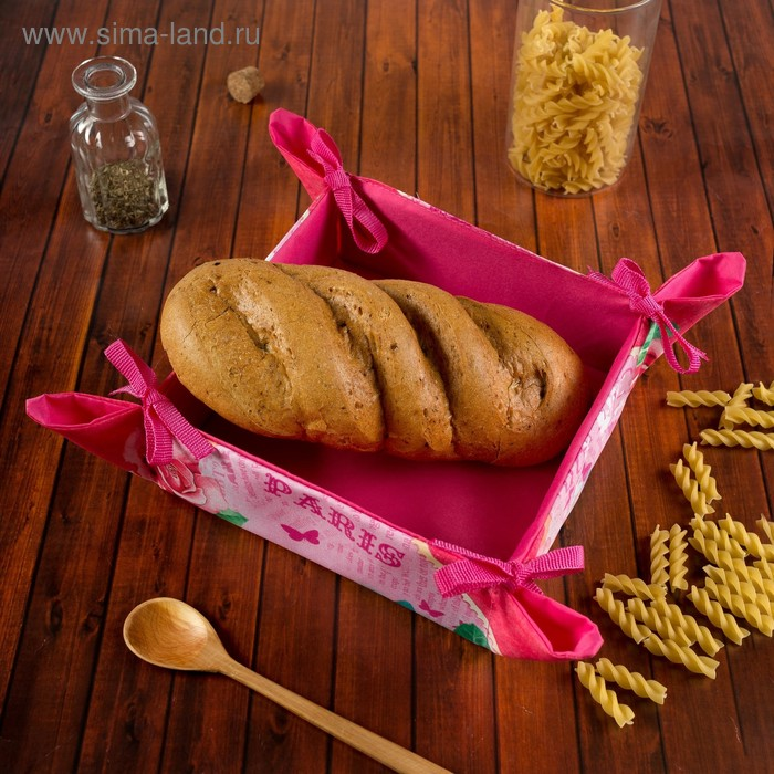 "Хлебница ""Collorista"" Романтика 20*20 + 7 см, полиэстр"