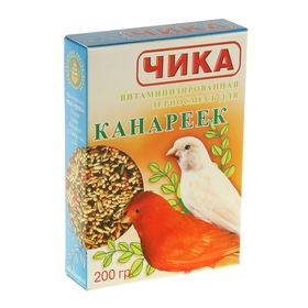 Корм витаминизированный 'Чика' для канареек, 200 г Ош