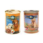 """Влажный корм """"Верные друзья"""" для собак, курица, телятина и морковь в соусе, 850 г"""
