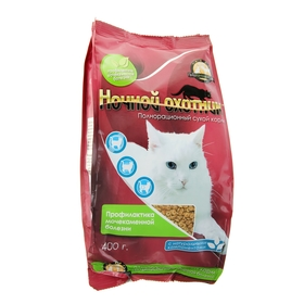 Сухой корм 'Ночной охотник' для кошек профилактика мочекаменной болезни, 400 г Ош