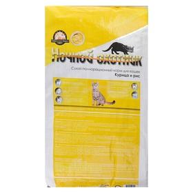 """Сухой корм """"Ночной охотник. Премиум"""" для кошек, курица и рис, 10 кг"""