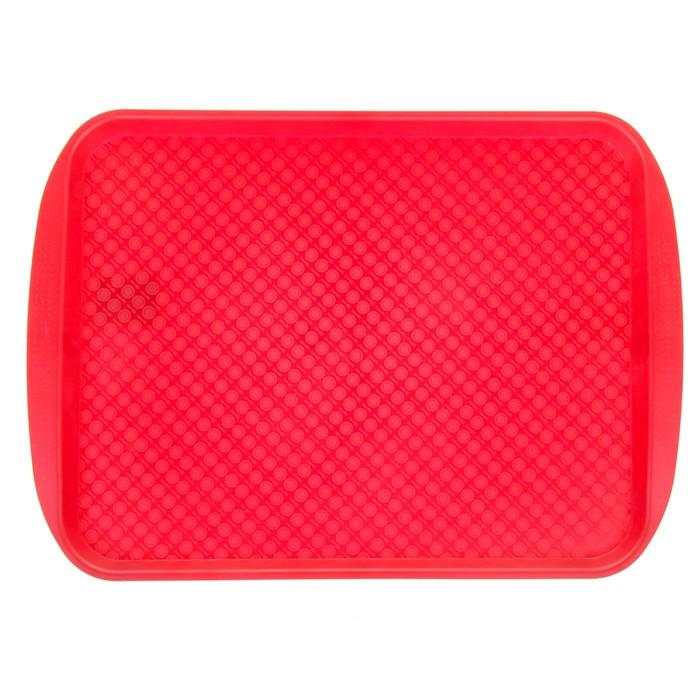 Поднос 45х35 см, цвет красный