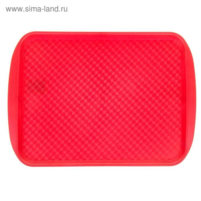 Поднос 45х35 см, красный